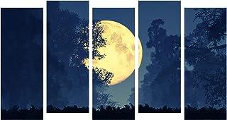 Paper Plane Design Photo Frames for Wall Decoration Sunset Dark Moon View Picture Split Panels Art Decor Set of Paintings ...