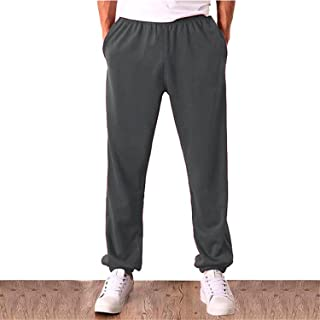 9afdb1a606 Prettyever Comfortable Men Solid Baggy Loose Elastic Pants Cotton  Sweatpants Casual Pants Trousers