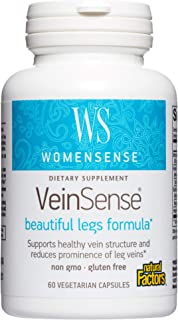 WomenSense VeinSense by Natural Factors, Beauty Supplement to Support Healthy Veins and Beautiful Legs, Vegan, Non-GMO, 60...