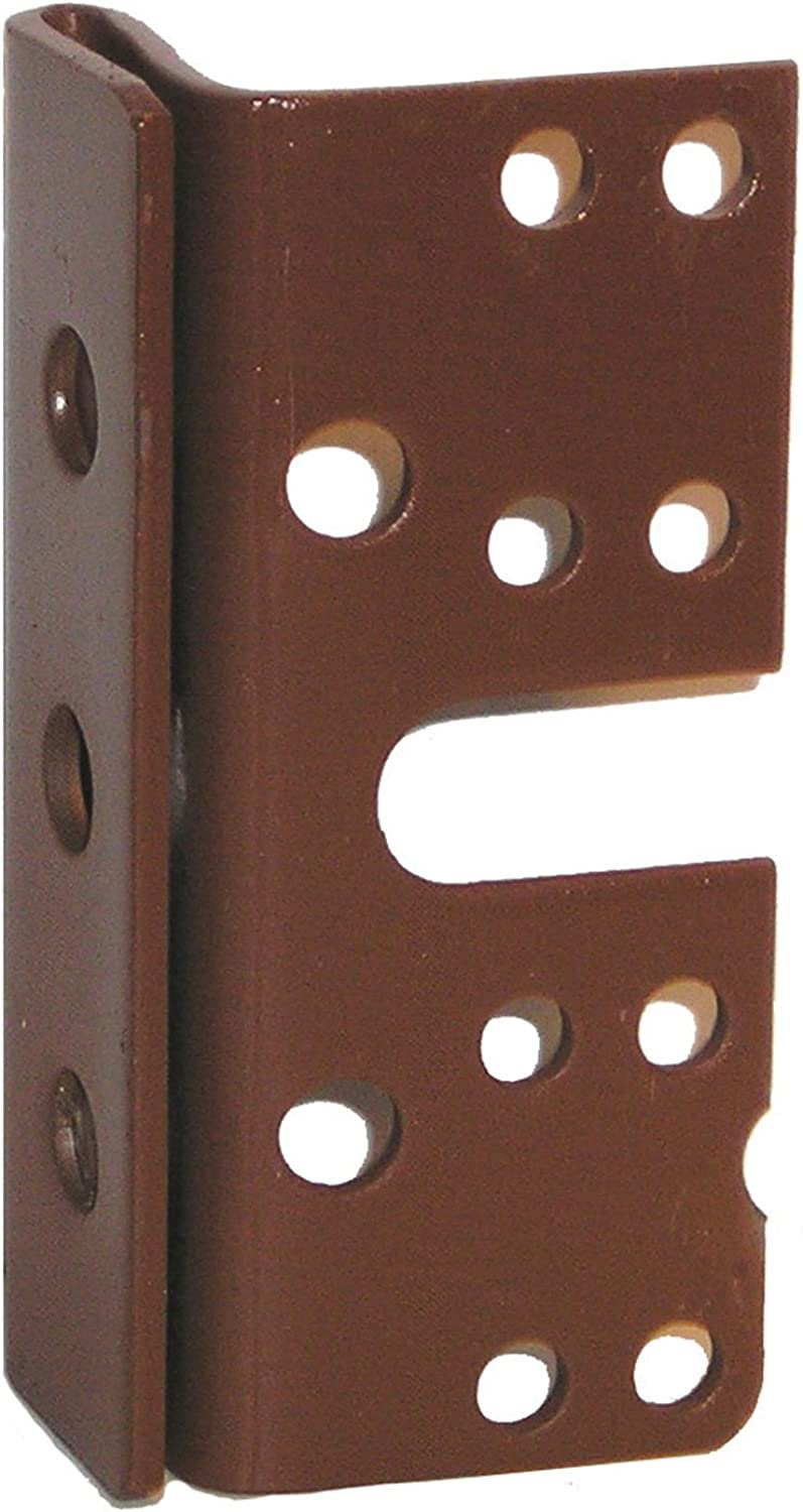 Bed Post Bracket For 2  Double Hook Slot Bed Plate and Rails 3-3 4  x 1-3 4  (4 Brackets)
