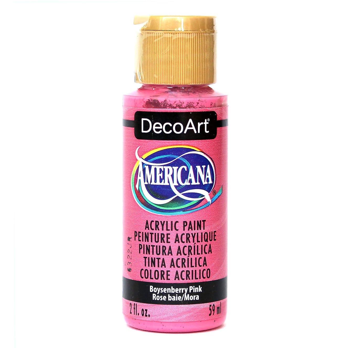 DecoArt Americana Acrylic Paint, 2-Ounce, Boysenberry Pink