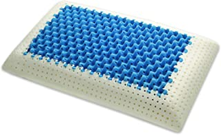 Marcapiuma – Cojín de Memory – Blue Air Massage – Inserto Ultra Transpirable Efecto Masaje Funda de protección 100% algodón – Almohada Memory Ortopédico Dispositivo médico CE – Fabricado en Italia