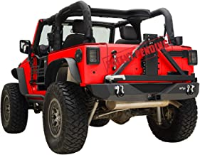 KML Rear Bumper with Assembled Tire Carrier Mount Fit for 07-18 Jeep Wrangler JK