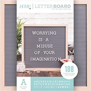 DCWVE Die Cuts with A View Board Letterboard-16 x 16-Oak and Gray (189 pcs) LB-006-00014, 16 x 16, Natural