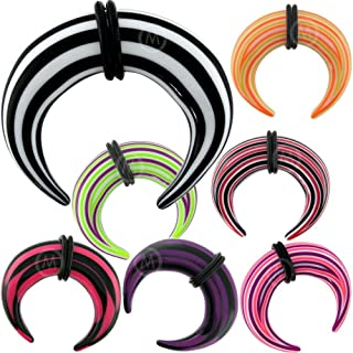 Pair 8g(3mm) to 1/2 (12mm) Claw Ear gauges Plugs Spiral Stretcher Expander Taper Circular Ring MoDTanOiz