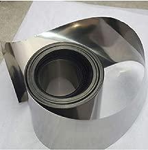 Titanium foil 100 x 300 x 0.1mm, 99.9% Purity