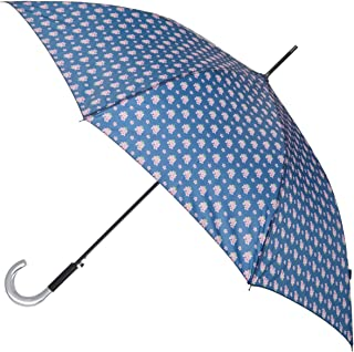 Laura Ashley Womens Ladies Classic Stick Umbrella, Windproof, Sun and Rain Proof Water Resistant Canopy with Large J Handle