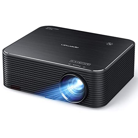 "Projector, APEMAN Native 1920x1080P HD Portable Projector, Support 4K, 300"" Screen for Home Theater/Outdoor Movie, 4D Electronic Keystone, 75% Zoom, for Smartphone,PC,Xbox,PS4,TV Stick(2021 Upgrade)"