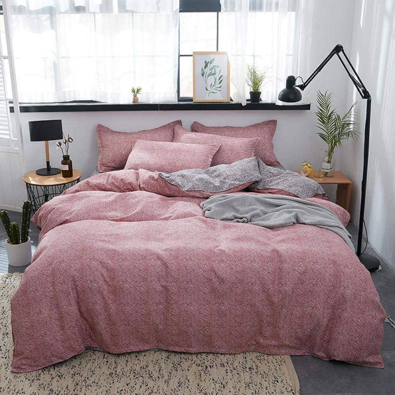 Housse de Couette 3 4pcs Ensembles de literie Coton aloès Pourpre Housse de Couette Linge de lit Couette Ensemble Textile à la Maison,pour 1.2m grandur lit