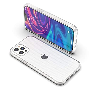 ANHONG Liquid Silicone Case Compatible with iPhone 12 Pro Max 6.7 inch 2020, Slim Fit Translucent Matte Liquid Silicone Gel Rubber Full Protection Cover Case