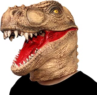 ifkoo Dinosaur Mask Novelty Halloween Christmas Easter Costume Party Masks Funny Latex Animal Head Mask