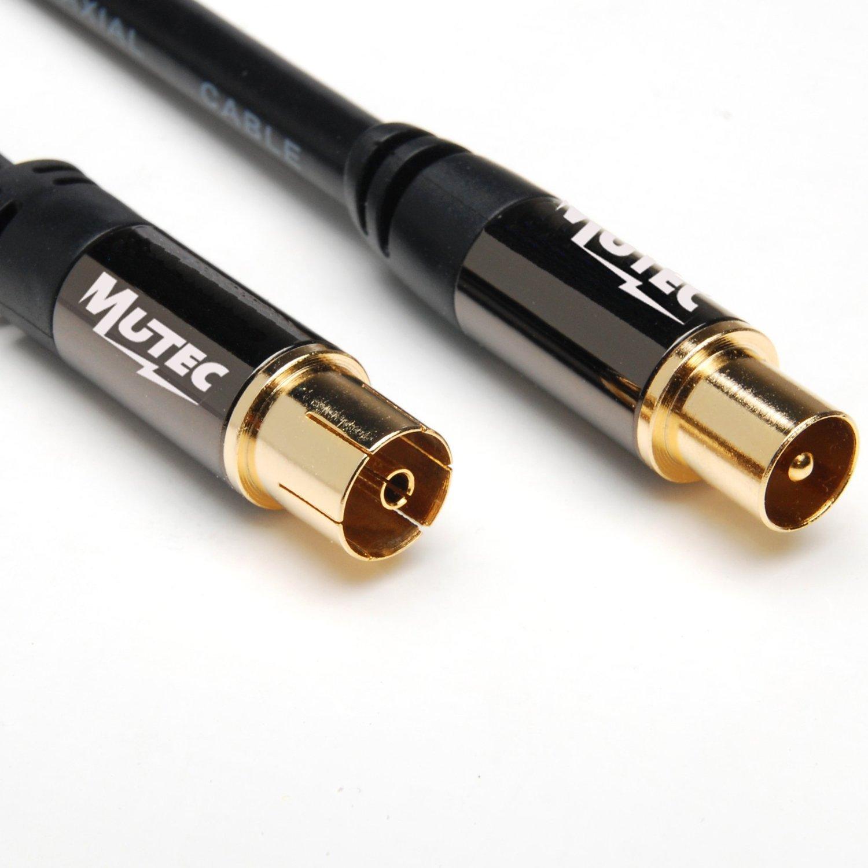 MutecPower 2m de Cable para TV/AV Antena coaxial Macho a Hembra coaxial Pair: Amazon.es: Electrónica