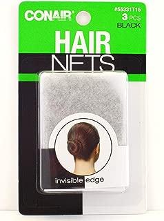 Conair 55331 3 CT. HAIR NET BLACK