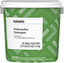 Amazon Brand - Solimo Dishwasher Detergent Pacs, Fresh Scent, 85 Count