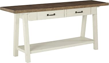 Signature Design by Ashley - Stowbranner Farmhouse Console Table w/ Storage, White/Brown