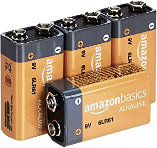 AmazonBasics 9 Volt Everyday Alkaline Batteries – Pack of 4