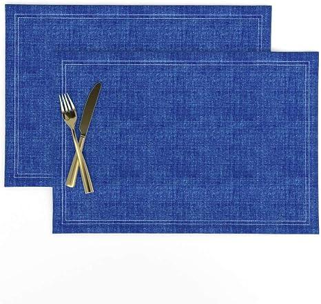 Round Tablecloth Joan Blue Indigo Cotton Sateen