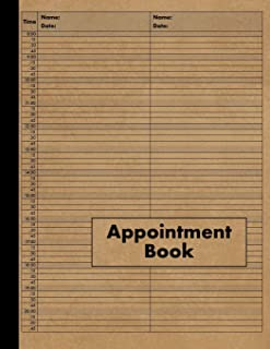 2 Column Appointment Book: Large 2 Column Schedule Book - 120 Pages 15 Minute Increments - Undated Two Column Notebook Planner