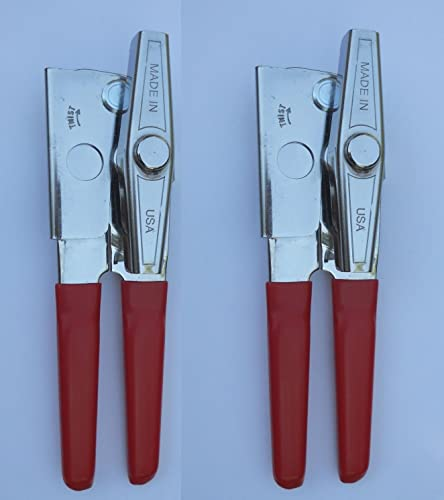 lowest EZ-DUZ-IT outlet online sale high quality Deluxe Can Opener with Red Grips (Red, 2) online