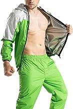 Hhwei Mannen Sauna Pak Vet Vermindering Vormen Sweatsuit Winddicht Waterdicht Jas en Broek Running Workout
