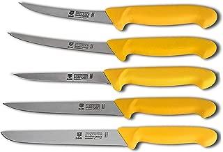 SMI - 5 pièces Couteau de Boucher en Acier Inoxydable Couteau à Viande Couteau de Chef Solingen Couteau de Cuisine