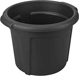 Elho Green Basics Pot De Pommes De Terre 33 - Pot De Fleurs - Living Noir - Extérieur  - Ø 32.3 x H 25.7 cm