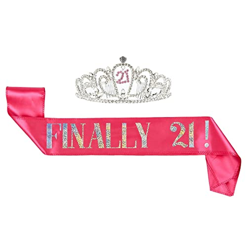 2 Piece Set Of Birthday Girl Tiara And Sash