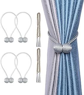 gray curtain tie backs