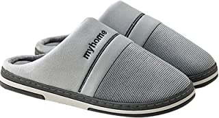 DHDHWL Chaussons Chaussures Homme Chaussons Hiver Hiver Diapositives Indoor Diapositives antidérapantes Chaussures Thermiq...