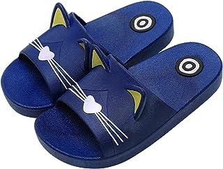 riou Chanclas de Baño para Niños Zapatos de Playa Niño Niña Playa Zapatillas Patrón de Gato Sandalias Mujer Hombre Bañarse...