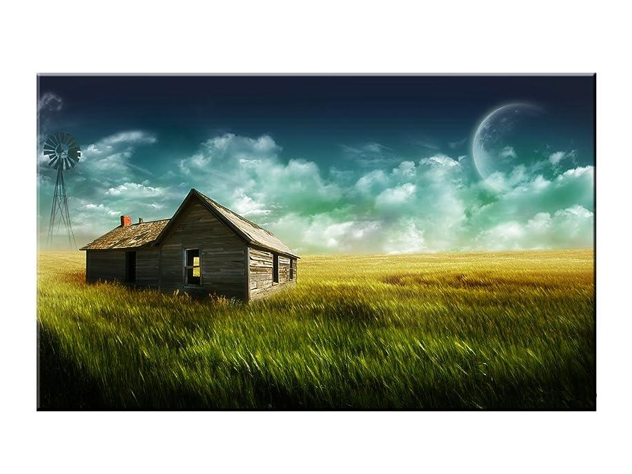 Mobicus 5D DIY Full Diamond Cross Stitch Painting,Living Room Decorative Wall Stickers Wallpaper,Prairie Cottage (30X40CM/12X16inch)