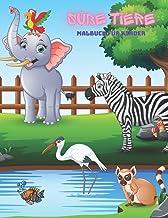 Süße Tiere - Malbuch Für Kinder: 100 ERSTAUNLICHE FARBSEITEN FÜR JUNGEN & MÄDCHEN (German Edition)