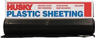 Husky CF0606B 6 ML Polyethylene Plastic Sheeting, 6' x 100', Black