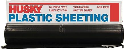 POLY AMERICA 410B 10-Feet X 100-Feet 4 Mil Black Plastic Sheeting