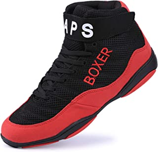 FJJLOVE Unisex Boxing Shoes, Breathable Boxing Boots Lightweight Non-Slip Wrestling Boots Rubber Sole Boxers Shoe for Wome...