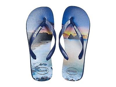 Havaianas Hype Flip Flops (Navy/Navy) Men