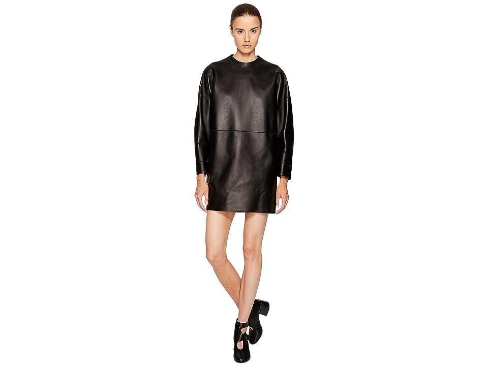 DSQUARED2 Boned Leather Dress (Black) Women