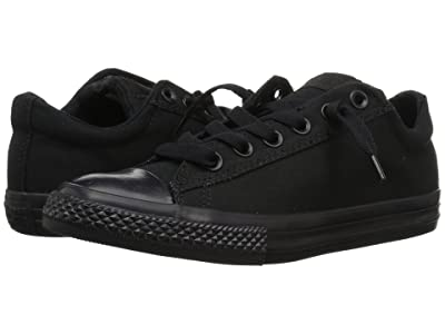 Converse Kids Chuck Taylor(r) All Star(r) Street Ox (Little Kid/Big Kid) (Black Mono) Kid