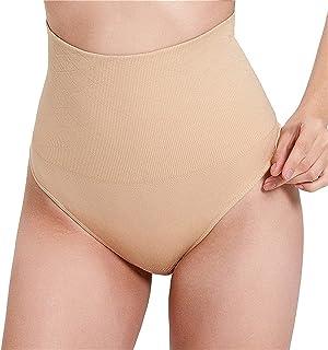 ملابس داخلية داخلية الخصر المدرب للنساء سراويل التحكم في التخسيس البطن سلس (Color : Khaki, Size : XXL)
