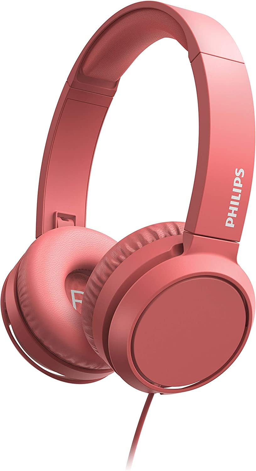 Philips TAH4105 Wired On-Ear Headphone (with Mic) Red