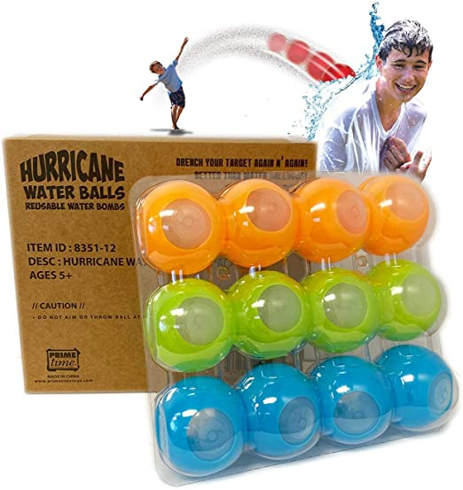 Reusable water balloons in a variety of colors