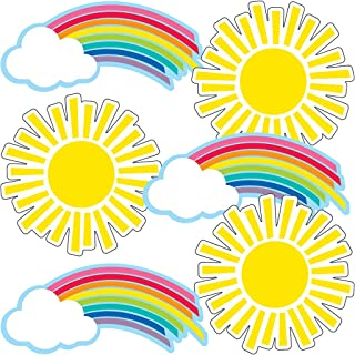 Carson Dellosa – Hello Sunshine Rainbows & Suns Colorful Cut-Outs, Classroom Décor, 36 Pieces