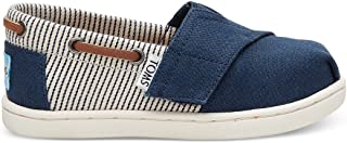 Navy Canvas Stripes Tiny Biminis 10010048 (Size: 10)
