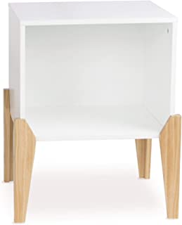 Atlantic Open Wood Nightstand/End Table - Open, stackable Cube in White PN82008001