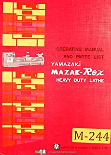 Mazak Rex Yamazaki, 24 and 30 Lathe, Operations and Parts List Manual