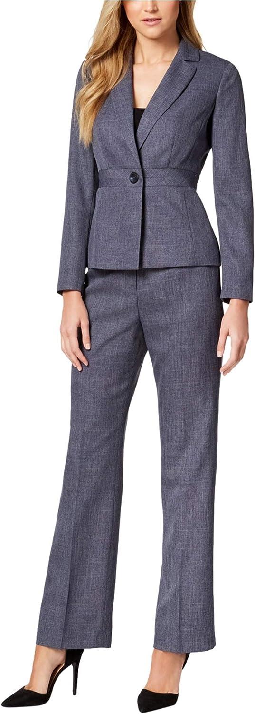 Le Suit Women Womens OneButton Pantsuit Dress Trousers