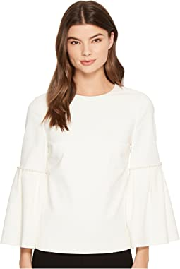 Ted Baker - Pelta Pearl Trim Bell Sleeve Top