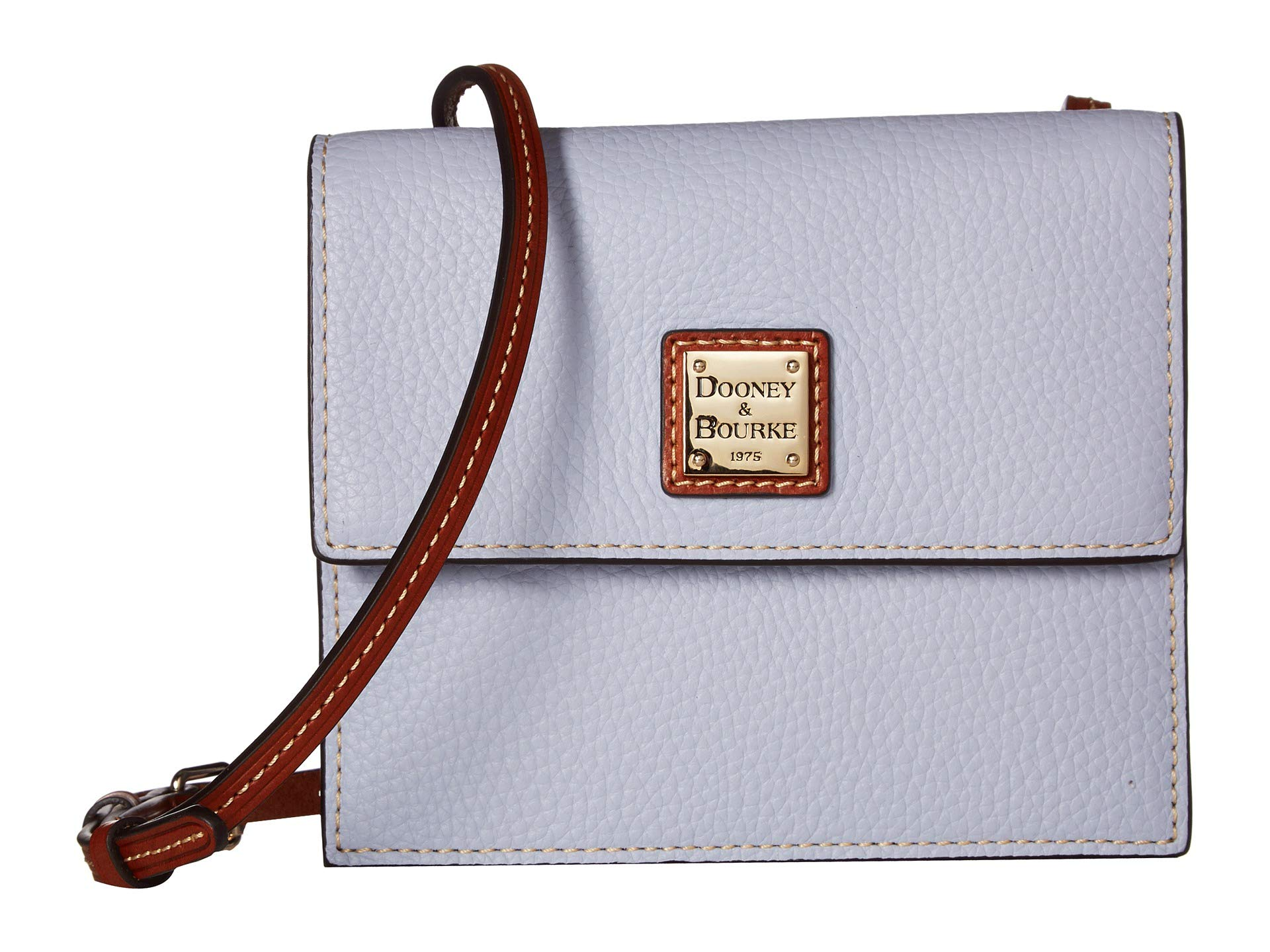 Blue Glacier Trim Crossbody tan amp; Dooney Pebble Bourke Gingy Flap qYwT0wz