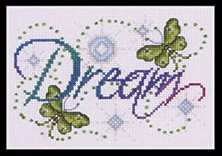 Tobin DW9797 14 Count Dream Counted Cross Stitch Kit, 5 by 7-Inch