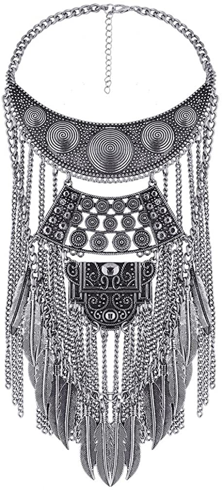 YAZILIND Collar Necklaces Pendants Exaggerated Vintage Maxi Choker Statement Collier Boho Women Jewelry